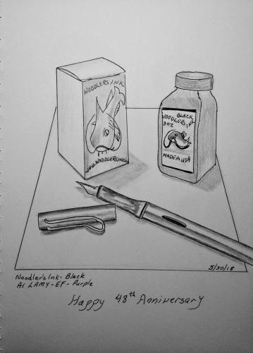 100 - Lamy Pen Noodlers Ink