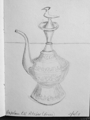 400- Nepalese Oil Pitcher