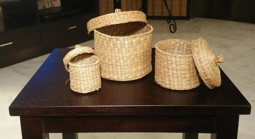 160-Baskets on a table