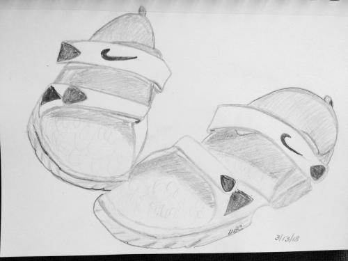 260 -Mike sandals sketch